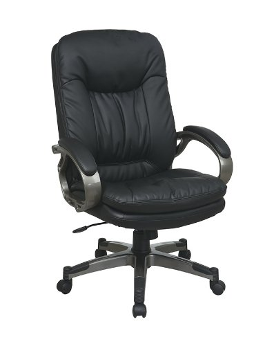 - Executive Eco Leather Chair with Padded Arms Black
