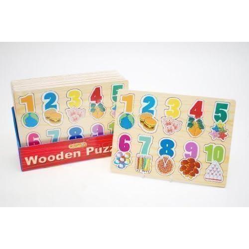 Puzzle en bois pour enfant - éducatif apprentissage des nombres