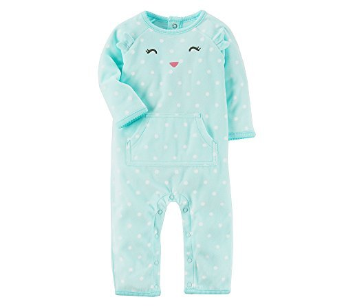 Carter's Baby Girls' Owl Coverall Mint 6 -