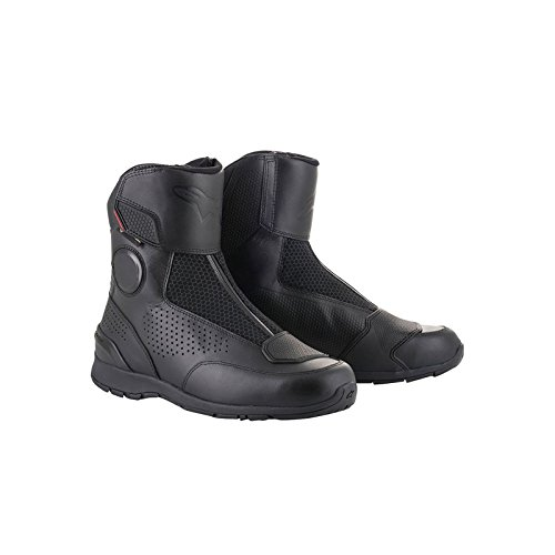 Gore-Tex CE Leather Motorcycle Touring Boots - Black 39 (Alpina Tour Boots)
