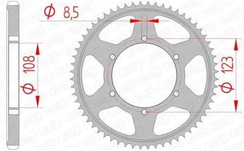 AFAM Kettensatz Stahl 13-60-136 AFAM428M offen mit Clipschloss passend f/ür Aprilia RS4 125 Bj.2012