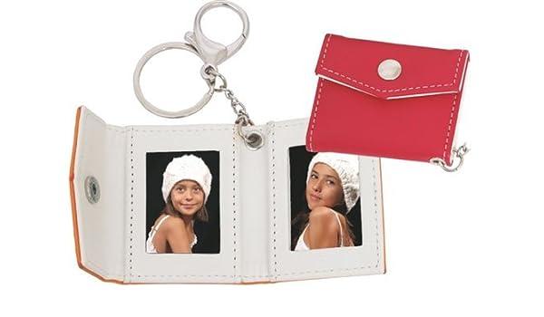 Dakota - Llavero metálico con funda para 2 fotos, color rojo ...
