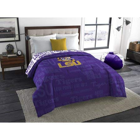 Official Louisiana State Tigers Anthem Twin/Full Bedding Comforter