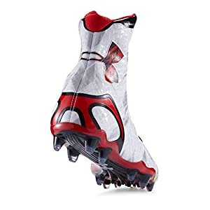 Under Armour Highlight MC Football Cleats (13, White/Red)