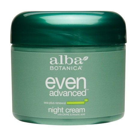 Alba Botanica Even Advanced Night Cream with DMAE & Thioctic Acid Sea Plus (Dmae Night Cream)