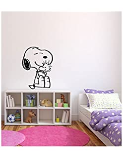 Amazon.com: 33.5 X 14 Inches - Snoopy Sleeping Cartoon Wall Vinyl ...