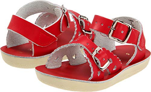 Salt Water Sandals by Hoy Shoe 1400-1404,Red,7 M US Toddler ()