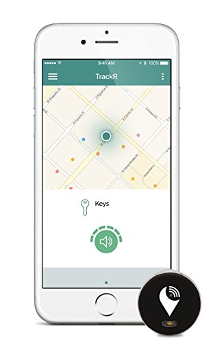 TrackR pixel - Bluetooth Tracking Device. Item Tracker. Phone Finder. iOS/Android Compatible - Black