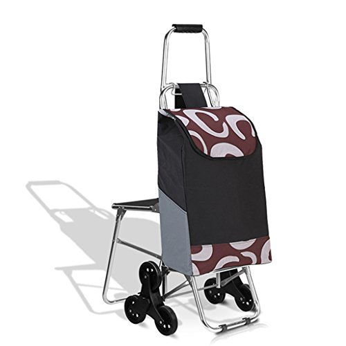 ZPWSNH Six-Wheeled Aluminum Alloy Shopping Cart for The Elderly, Old-Fashioned Shopping Cart, Folding Bicycle, Home Trolley, Trolley Car Trolley