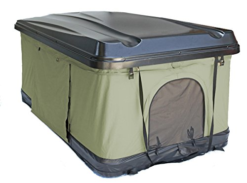 TMB Motorsports Green Pop Up Roof Tent Universal for Cars Trucks SUVs Camping Travel Mobile