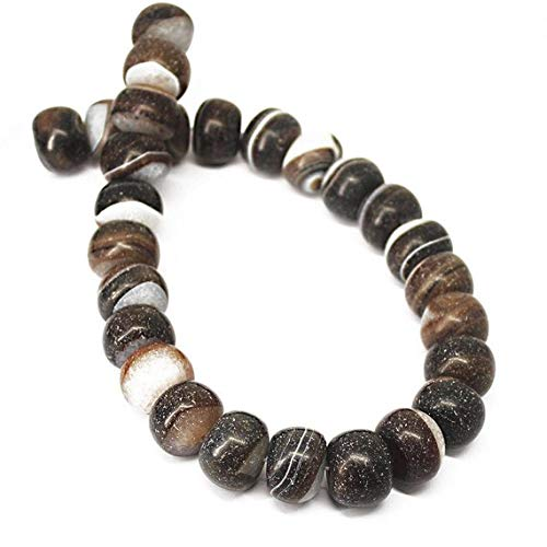 Beads Bazar Natural Beautiful jewellery Natural Frosted Black Onyx Smooth Gemstone Rondelle Gemstone Loose Craft Beads Strand 19