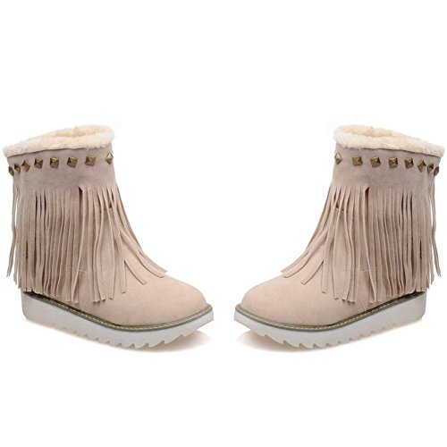 Botines Mujer COOLCEPT Flecos Beige con para FHwqgTd