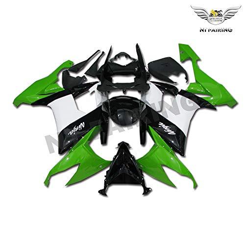 New Green White Black Fairing Fit for Kawasaki Ninja 2008 2009 2010 ZX10R ZX-10R Injection Mold ABS Plastics Aftermarket Bodywork Bodyframe 08 09 10