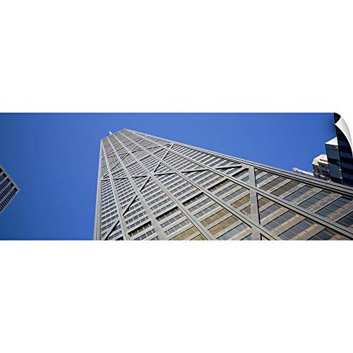 Canvas on Demand Wall Peel Wall Art Print Entitled Low Angle View a Building, John Hancock Building, Chicago, Illinois 48