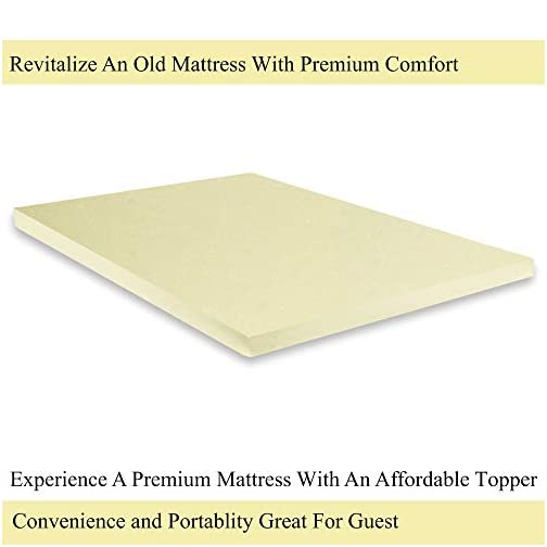 GREATON 1-inch High Density Foam Topper,Adds Comfort to Mattress, Twin