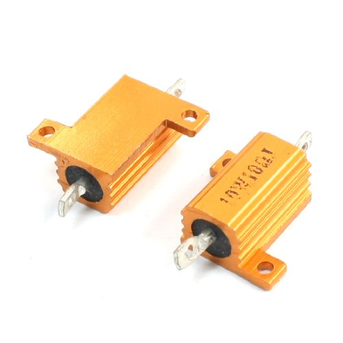 10w Resistors Power - uxcell 10W 10 Ohm Yellow Aluminium Housed Clad Wirewound Resistor 2 Pcs