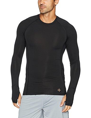 (Tommie Copper Mens Performance Raglan Long Sleeve T-Shirt, Black, Medium)