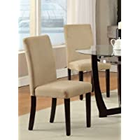 Poundex Dining Chair in Hazelnut Finish, Set of 2