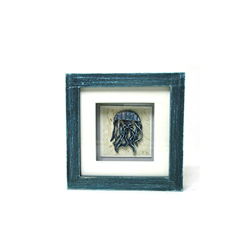 Fish Shadow Box (Sea Life Collection - Decorative Jellyfish Blue Shadow Box)