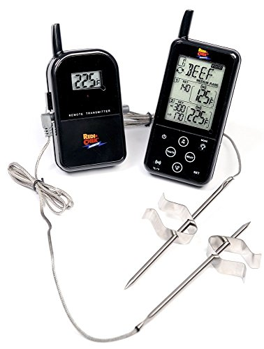 Maverick ET-733 Long Range Wireless Dual Probe BBQ Smoker Meat Thermometer with Larger Display and added Features -  Black - Redi Check Thermometer Probe