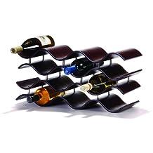 Oenophilia Bali Wine Rack, Ebony black/brown, 12-Bottle
