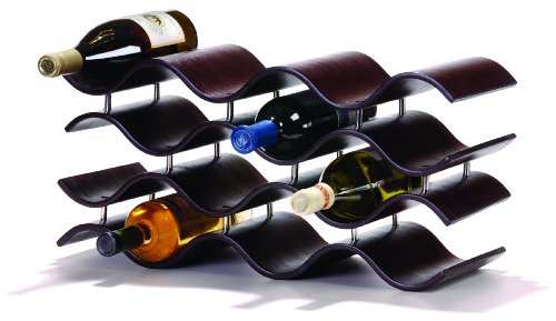Oenophilia Bali Wine Rack, Ebony - 12 Bottle