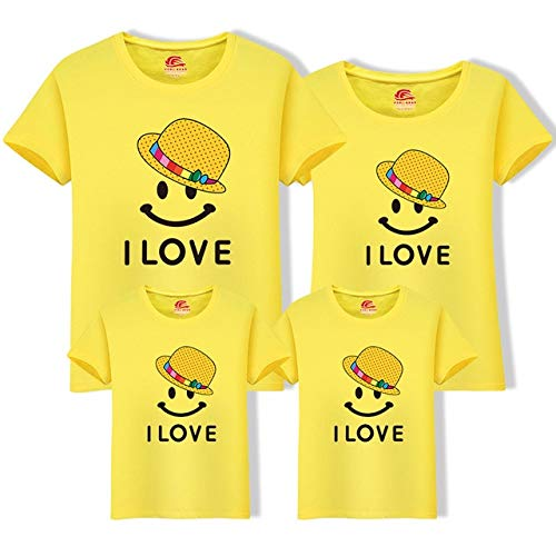 fc89004650d59 Mother Daughter Clothes Father Son Short Sleeve Cotton T-Shirt Family  Matching Outfits Summer Cotton Tops One Piece H0300 : H0300 Yellow, ...