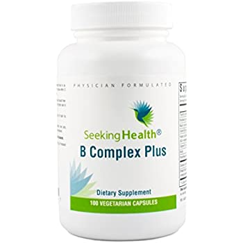 B Complex Plus | 100 Capsules | Seeking Health | Vegetarian Vitamin B Complex Capsules | 100 easy-to-swallow capsules