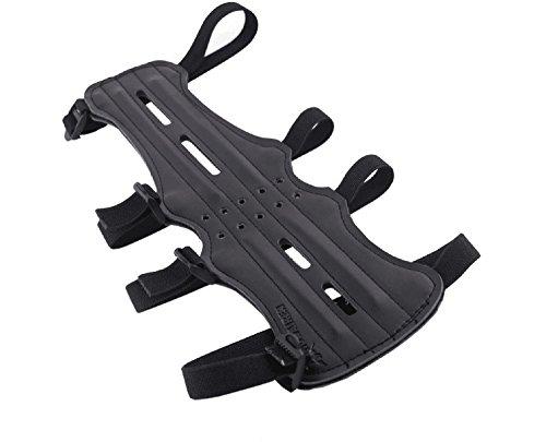 Santu Cowhide Archery Arm Guard,Contain Four Adjustable Straps,Black