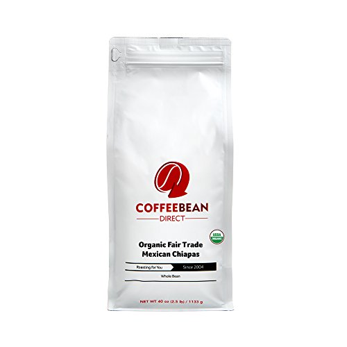 Coffee Bean Direct Organic Fair Trade, Mexican Chiapas, 2.5 Pound