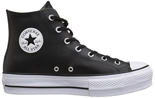 White Hi Converse Clean White Black Lift para 001 Black Altas Zapatillas Black CTAS Mujer Negro xwxOT