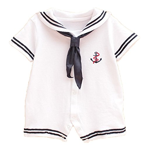 Ma&Baby Baby Boy Girl Romper Jumpsuit Bodysuit Anchor Sailor Clothes Outfits (3-6 (Sailor Outfits Women)