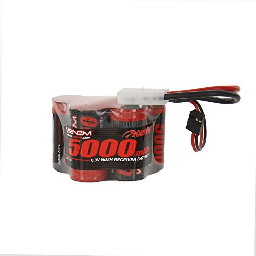 Nimh Hump Battery - Venom 6V 5000mAh 5-Cell Hump Receiver NiMH Battery for HPI Baja