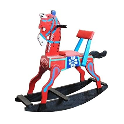 Sihi Creation Handcrafted Wooden Attractive Rocking Horse Colour May Vary