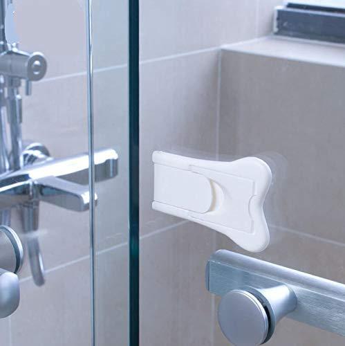 Ankamal Elec Cerradura de puerta dise/ñada para puertas correderas 3M cinta de doble cara super viscosidad f/ácil de limpiar