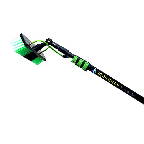 (Water Fed Pole Kit for Window Cleaning or Solar Panel Washing (24 Foot Reach)- AquaSpray Superlite 24)