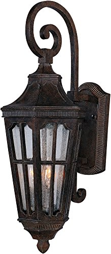 Large Lantern Beacon Wall Outdoor (Maxim 40153CDSE Beacon Hill VX 2-Light Outdoor Wall Lantern, Sienna Finish, Seedy Glass, CA Incandescent Incandescent Bulb , 60W Max., Dry Safety Rating, Standard Dimmable, Fabric Shade Material, 5376 Rated Lumens)