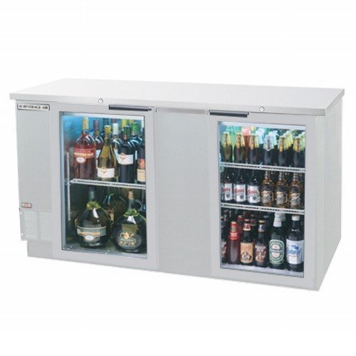 Beverage Air BB68GF-1-S Two-Section Refrigerated Food Rated Back Bar Storage Cabinet 68