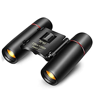 30x60 Small Compact Binoculars for Adults Kids, Mini Binocular for Traveling Sightseeing Bird Watching, Night Vision Binoculars for Concert Theater Opera