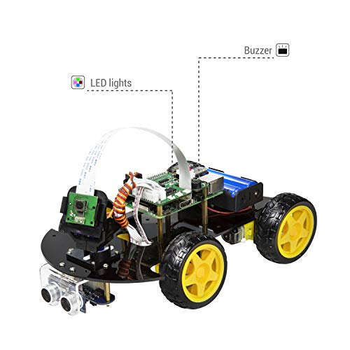 UCTRONICS Robot Car Kit for Raspberry Pi - Real Time Image and Video, Line Tracking, Obstacle Avoidance with Camera Module, Line Follower, Ultrasonic Sensor and App Control by UCTRONICS (Image #6)