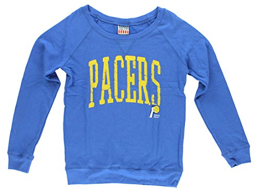 - Junk Food Womens Indiana Pacers Fadeaway Sweater Blue M