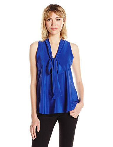 Amanda Silk Blouse (Amanda Uprichard Women's Evan Top, Ultramarine, S)