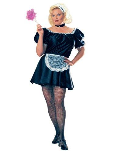 Rubies Womens French Maid Halloween Costume Full Cut Plus ()