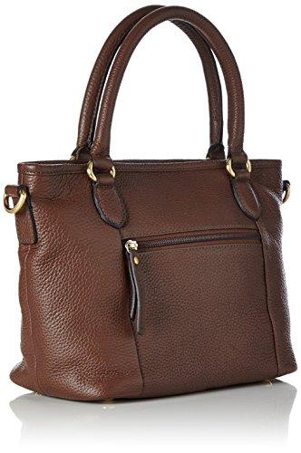 Gerry Weber Napoli Handbag - Bolso de mano de cuero mujer marrón - Braun (cognac 703)