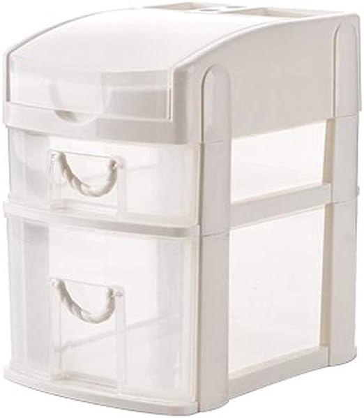Cajas Decorativas 2 3 gradas Cajón de Escritorio Caja de Almacenamiento Objetos pequeños Objetos Caja de cosméticos Organizador de Maquillaje de Escritorio Cajas de almacenaje: Amazon.es: Hogar