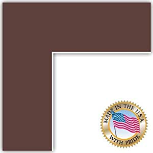 21x27 Mahogany Custom Mat for Picture Frame with 17x23 opening size by ArtToFrames