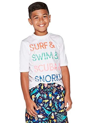 - Cat & Jack Boys' Short Sleeve Rash Guard-Variety- (Surf & Swim, M(8/10))
