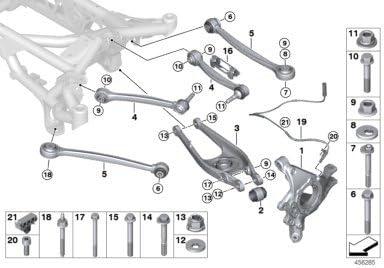 BMW Genuine Eccentric Bolt Screw For Rear Support Wheel Suspension 33326779785
