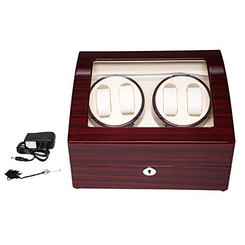 Wood 4+6 Watch Winder Mens Watches Box Storage Display Automatic Rotation Jewelry Case Organizer by Gregarder (Image #1)