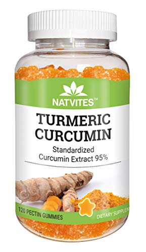 Natvites Turmeric Pectin Gummies for Adults 120 Count